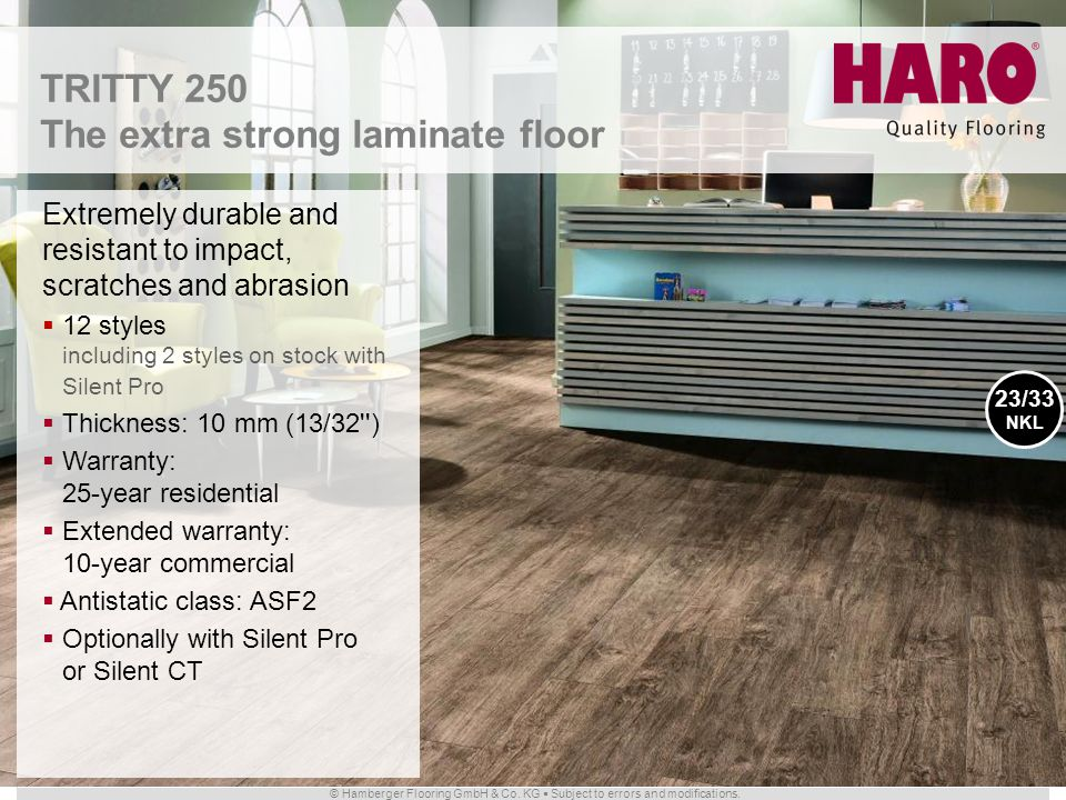 The extra strong laminate floor