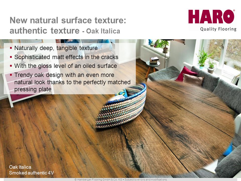 New natural surface texture: authentic texture - Oak Italica