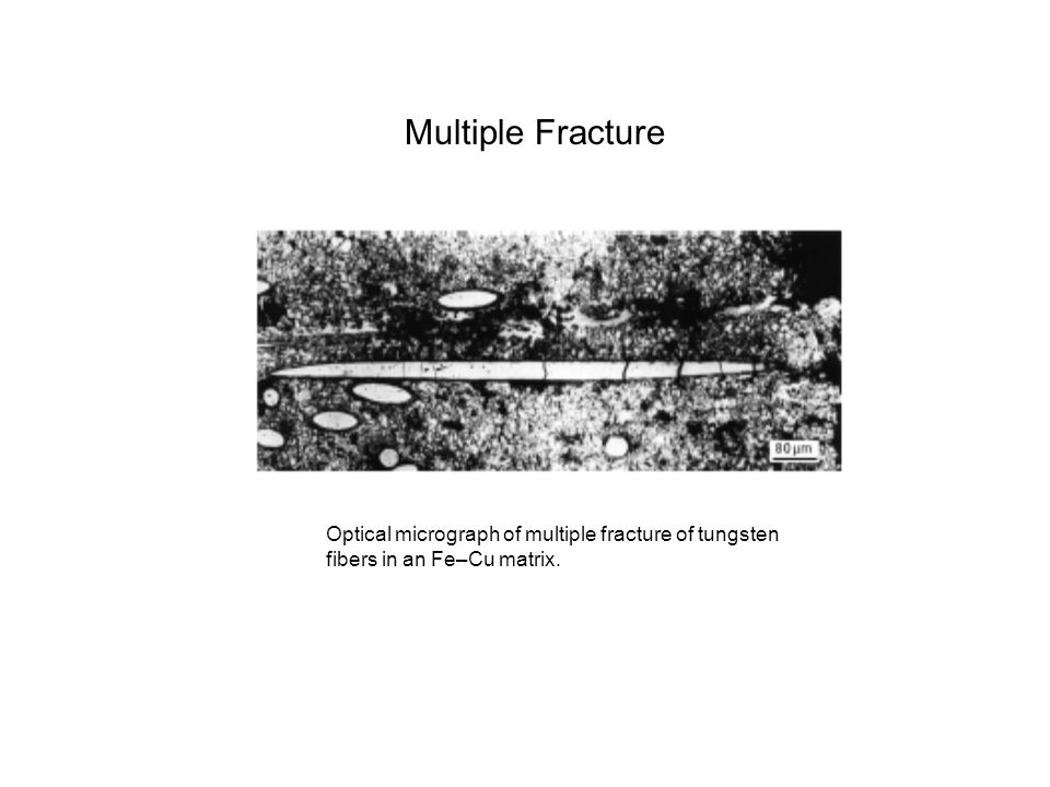 Multiple Fracture Optical micrograph of multiple fracture of tungsten