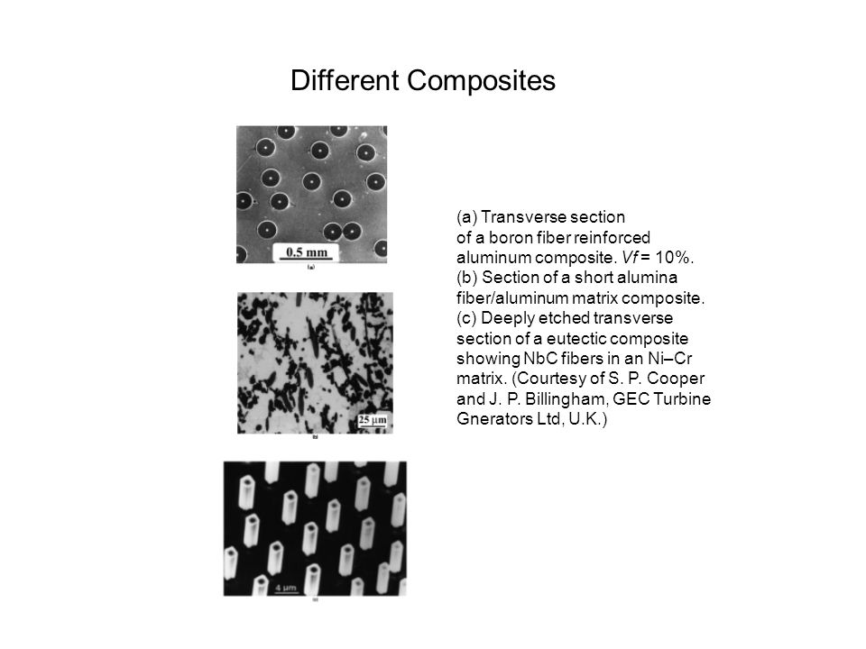 Different Composites (a) Transverse section