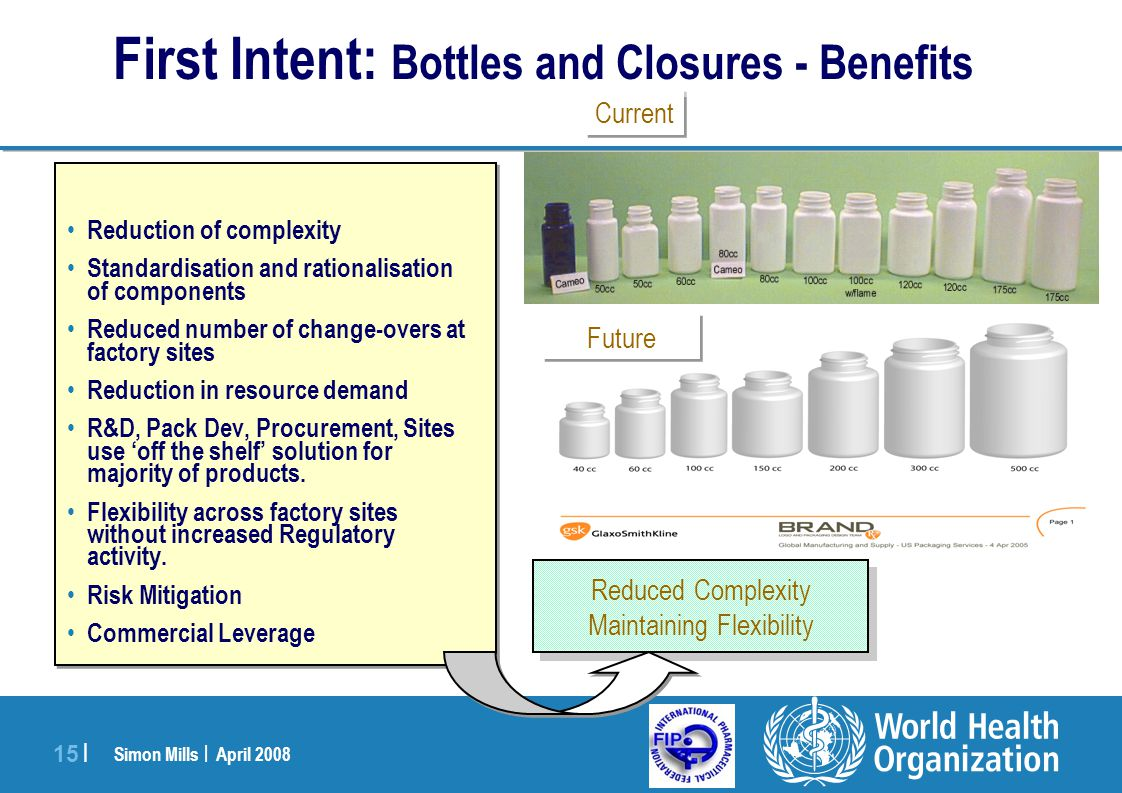 First Intent: Bottles and Closures - Benefits