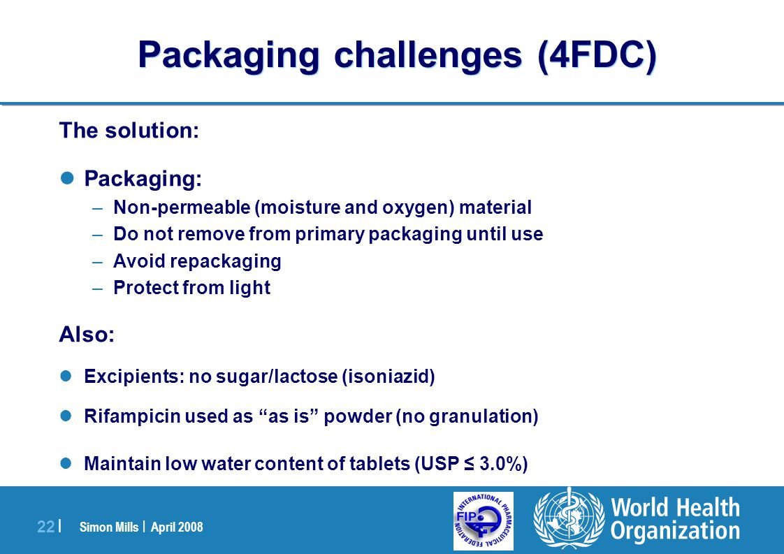 Packaging challenges (4FDC)