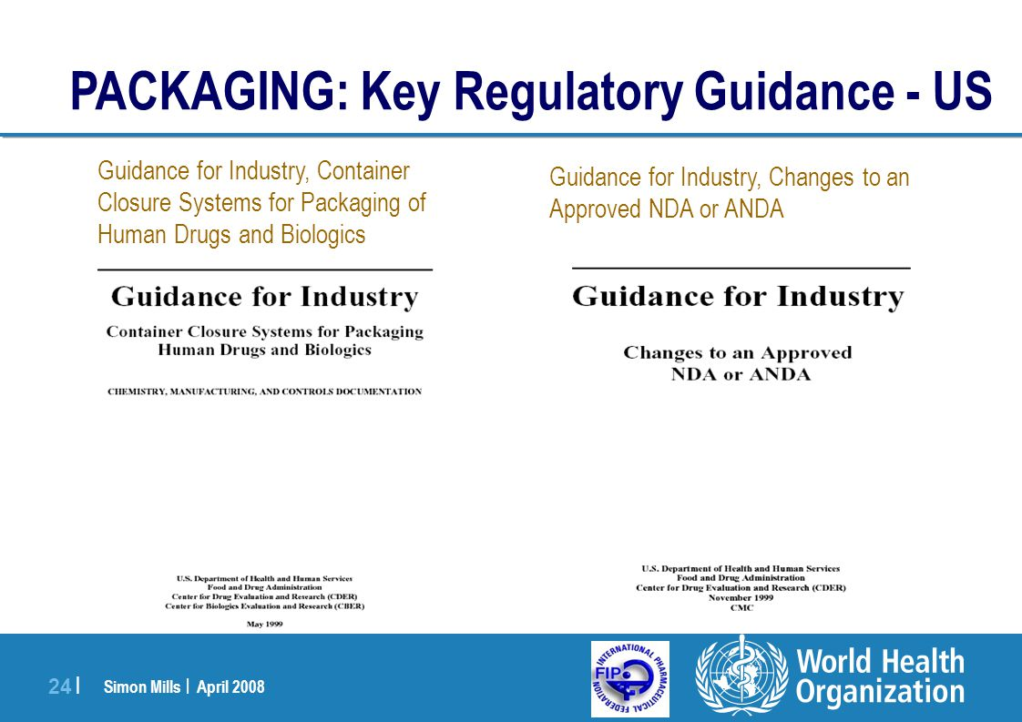 PACKAGING: Key Regulatory Guidance - US