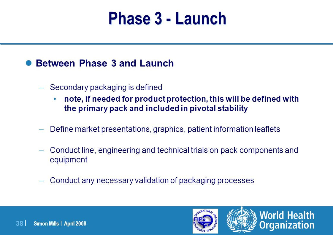 Phase 3 - Launch Between Phase 3 and Launch