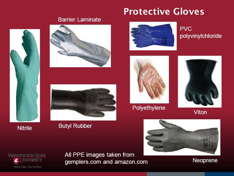 Protective Gloves Barrier Laminate PVC polyvinylchloride Polyethylene