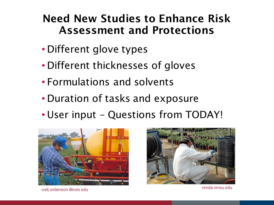 Need New Studies to Enhance Risk Assessment and Protections