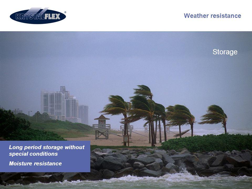 Storage Weather resistance