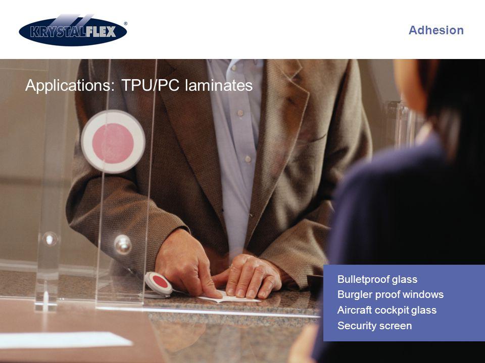 Applications: TPU/PC laminates