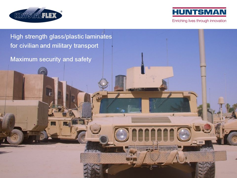 High strength glass/plastic laminates for civilian and military transport