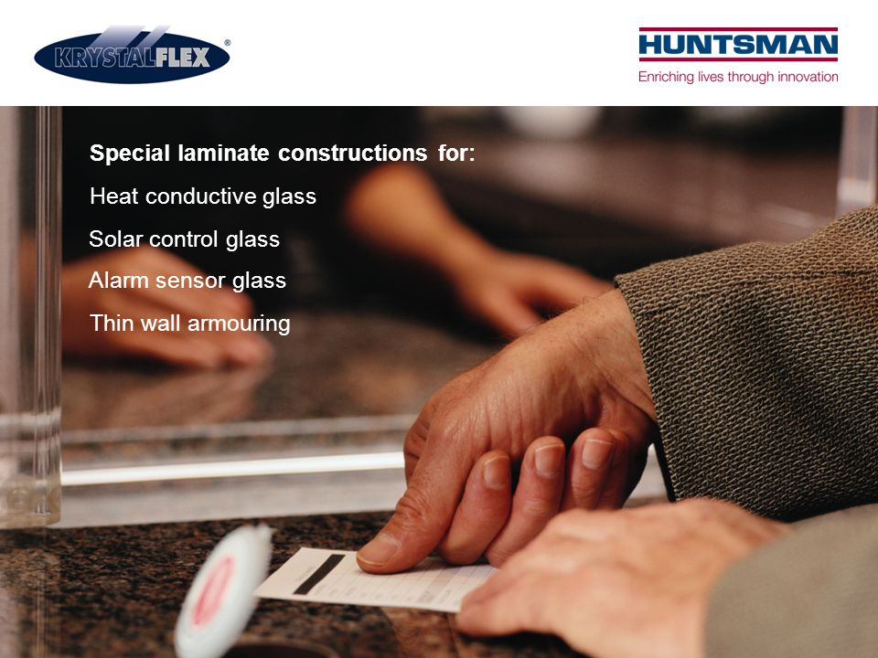Special laminate constructions for: