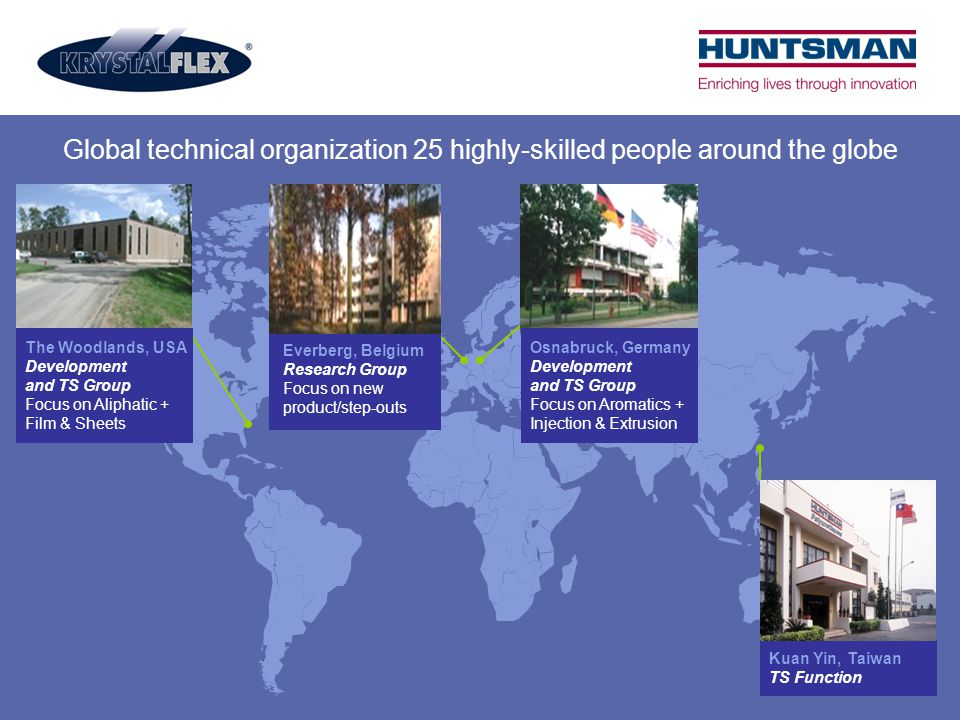 Global technical organization 25 highly-skilled people around the globe