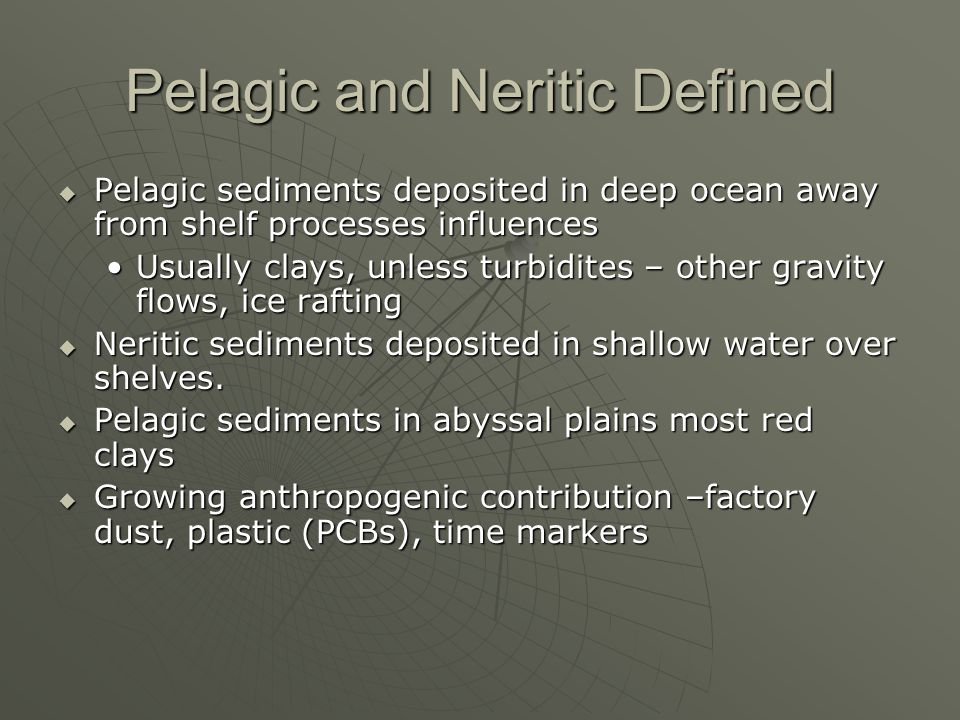 Pelagic and Neritic Defined