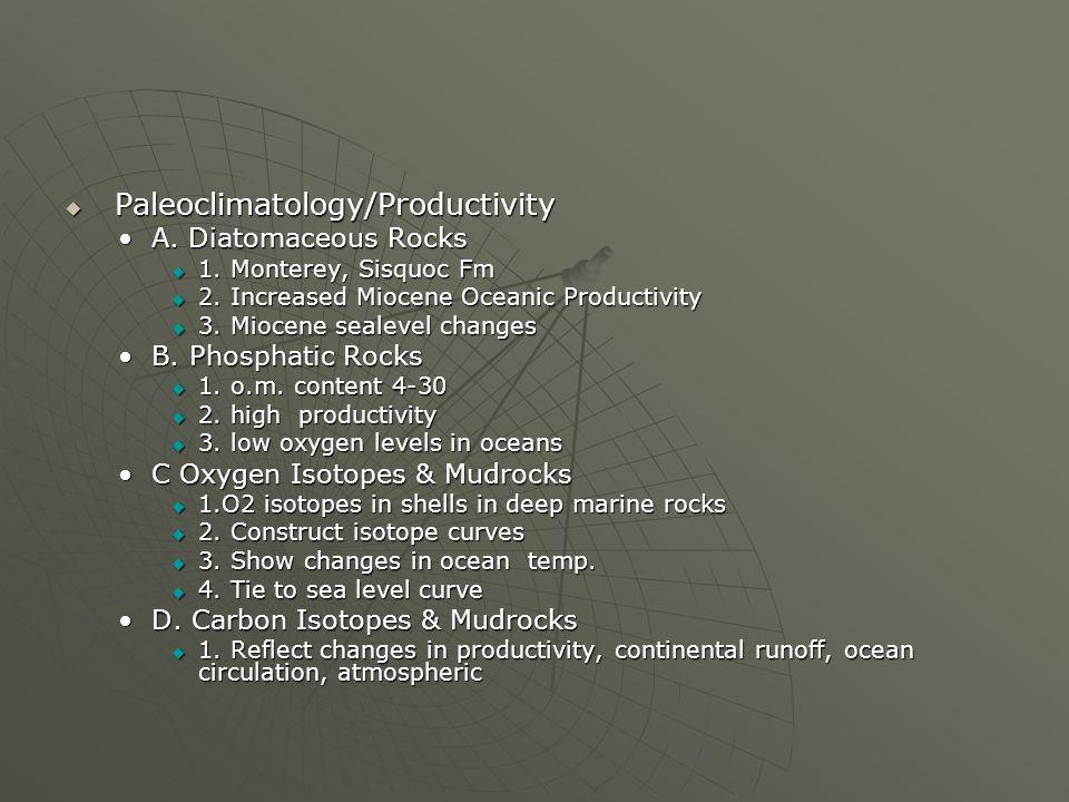 Paleoclimatology/Productivity