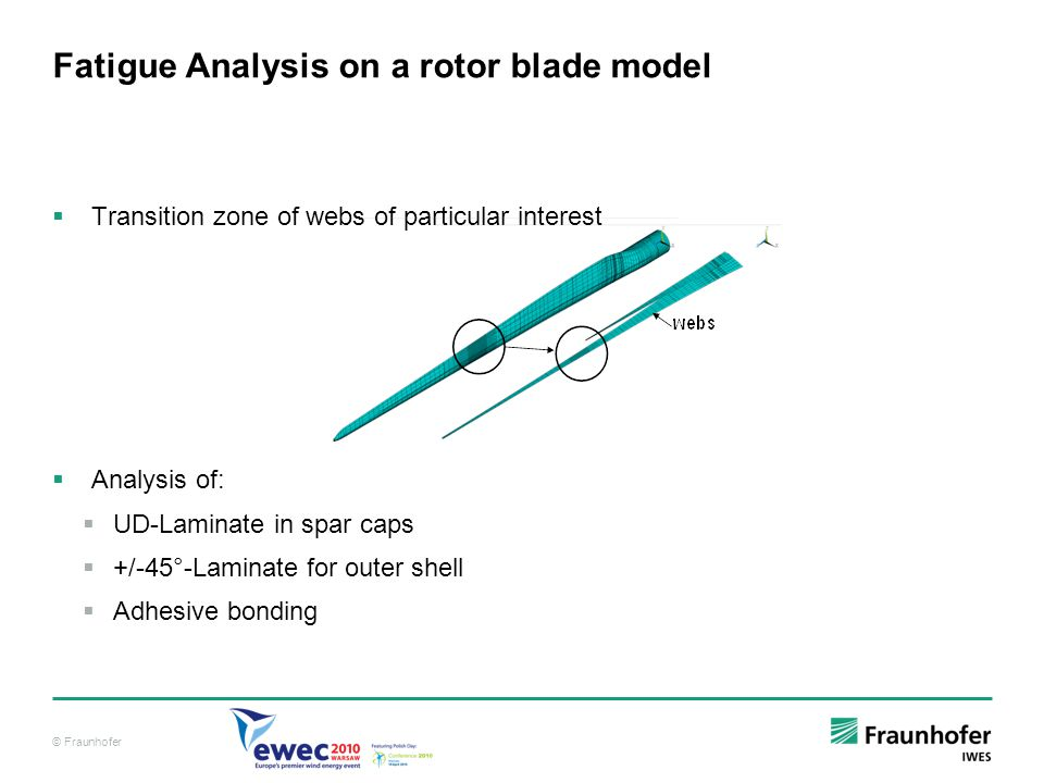 Fatigue Analysis on a rotor blade model