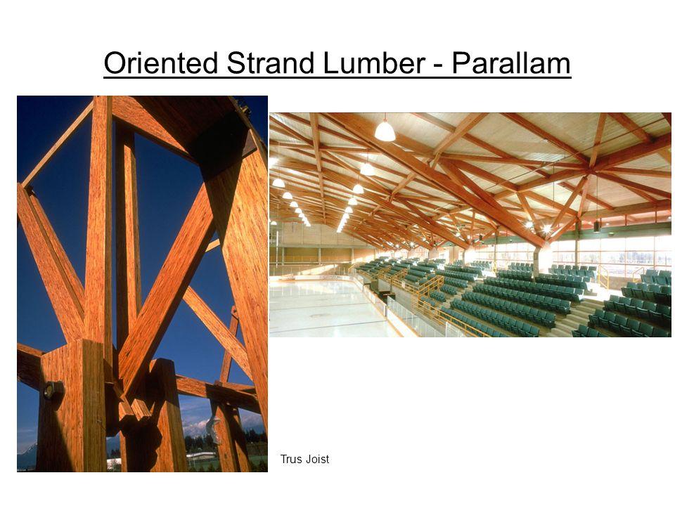 Oriented Strand Lumber - Parallam