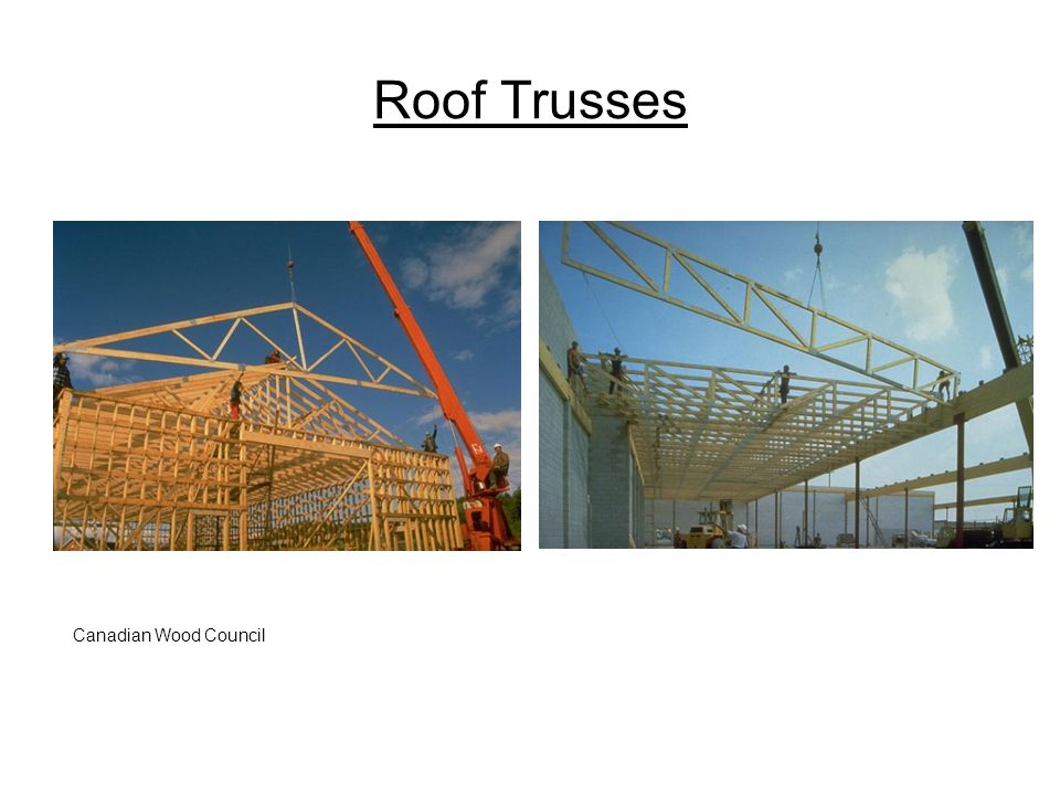 Roof Trusses Canadian Wood Council