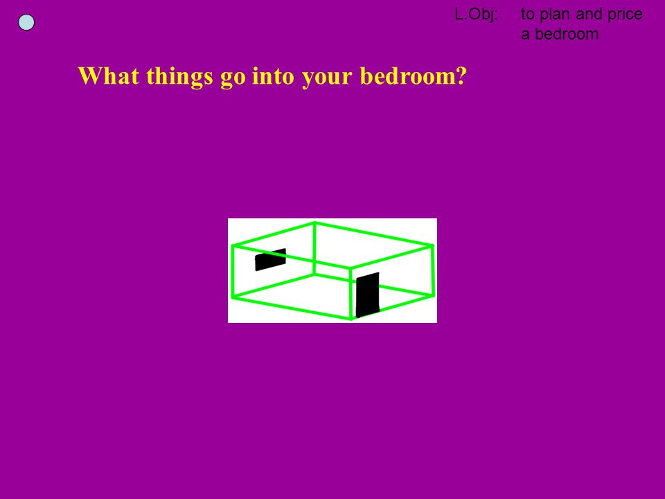 What things go into your bedroom