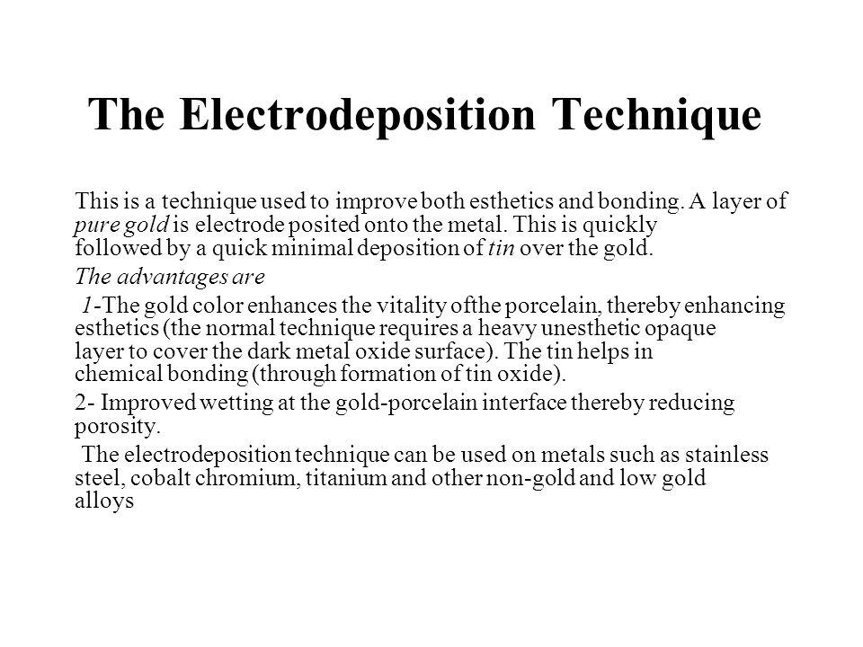 The Electrodeposition Technique
