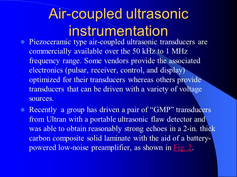 Air-coupled ultrasonic instrumentation