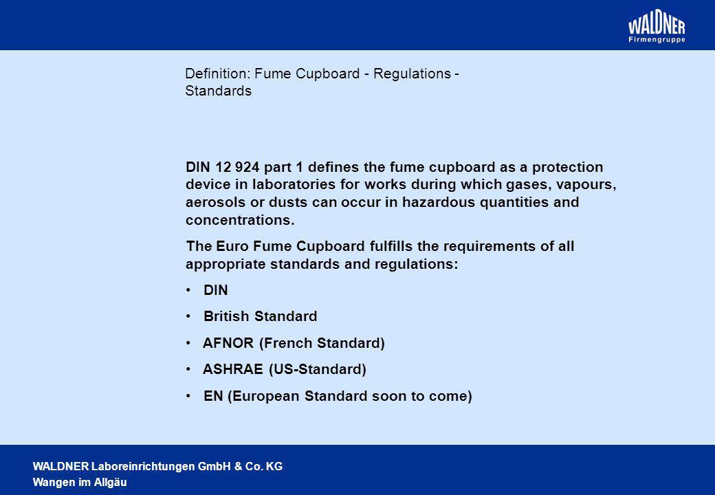 Definition: Fume Cupboard - Regulations - Standards