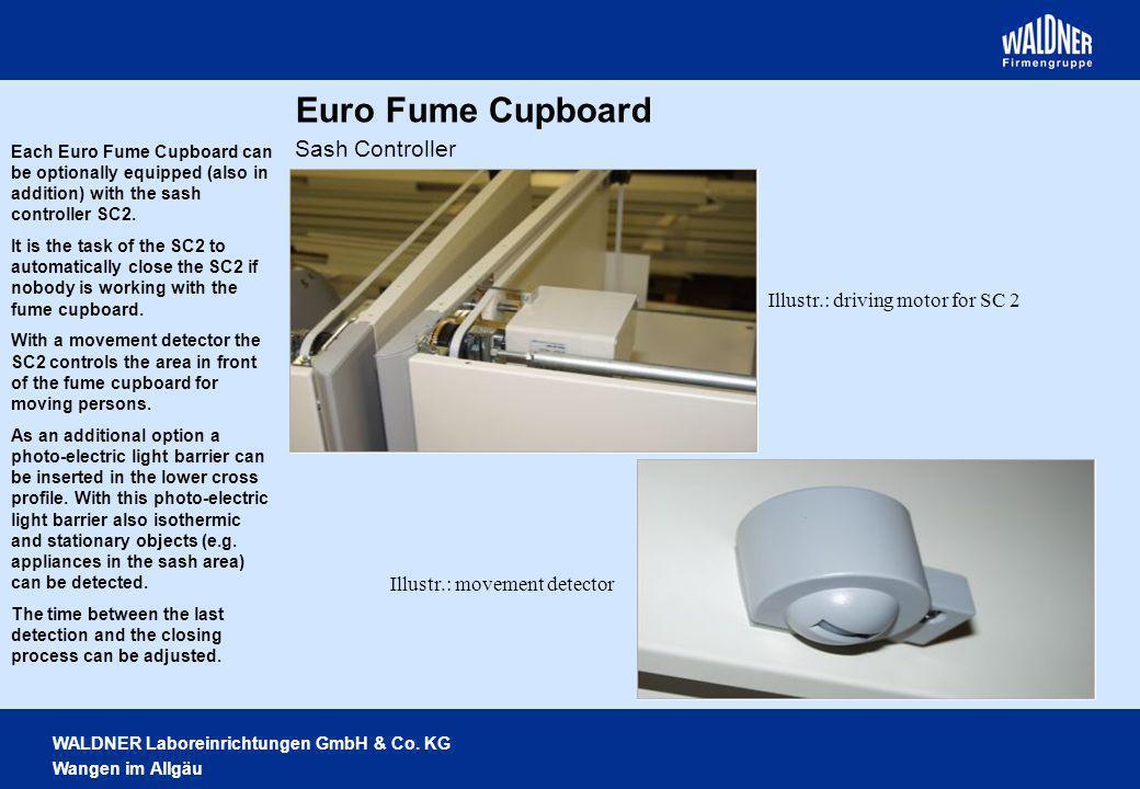 Euro Fume Cupboard Sash Controller Illustr.: driving motor for SC 2