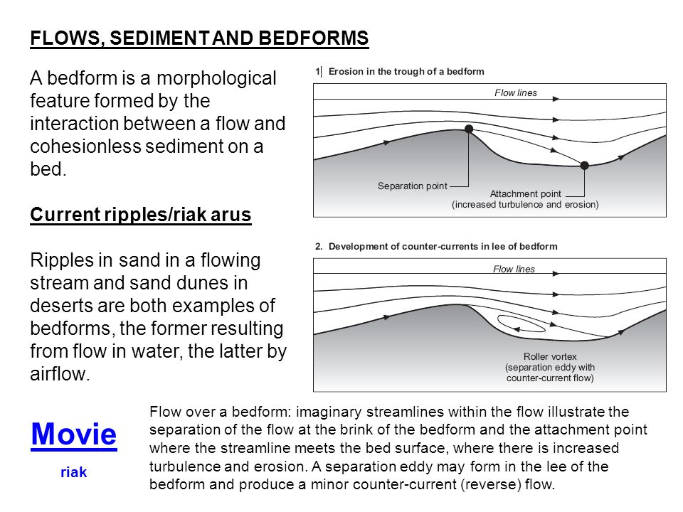 Movie FLOWS, SEDIMENT AND BEDFORMS