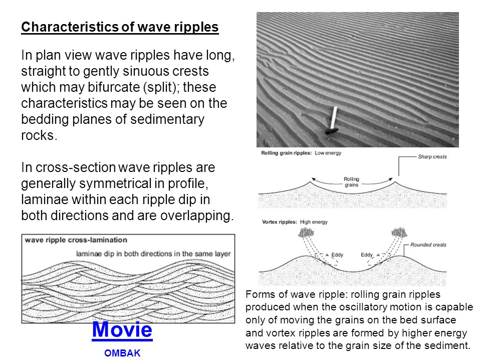 Movie Characteristics of wave ripples