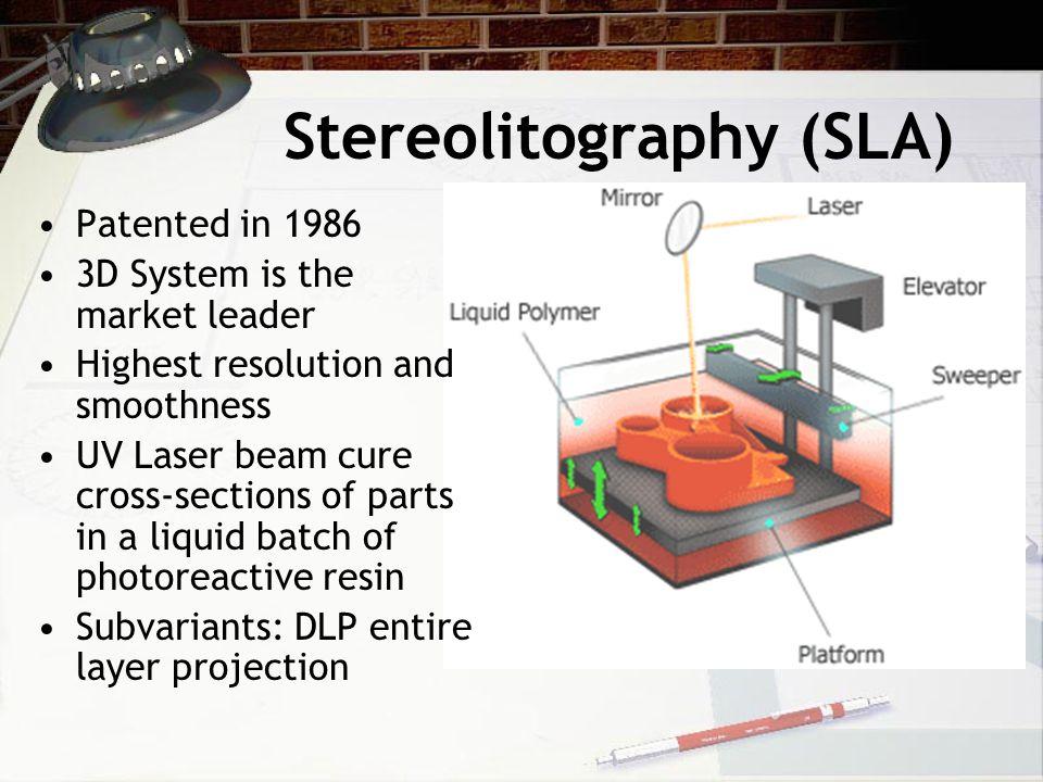 Stereolitography (SLA)