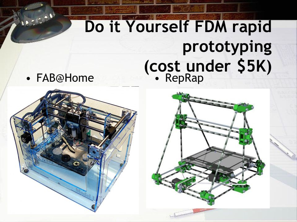 Do it Yourself FDM rapid prototyping (cost under $5K)