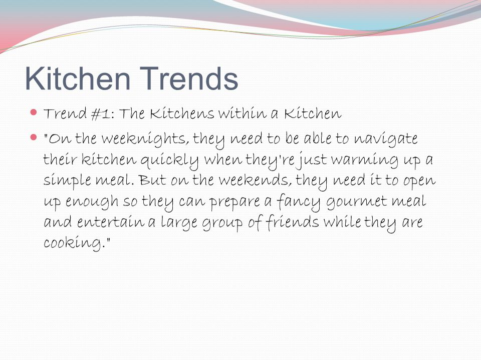 Kitchen Trends Trend #1: The Kitchens within a Kitchen
