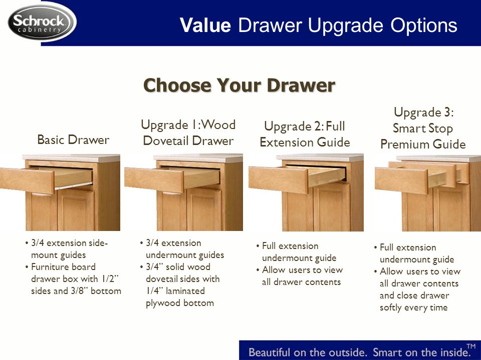 Value Drawer Upgrade Options