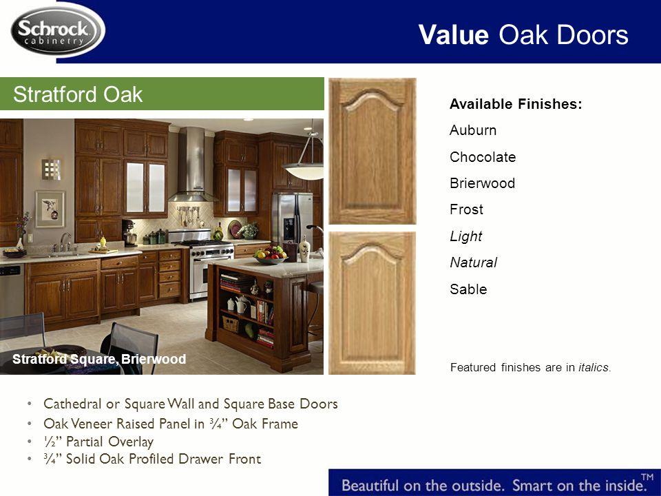 Value Oak Doors Stratford Oak Available Finishes: Auburn Chocolate