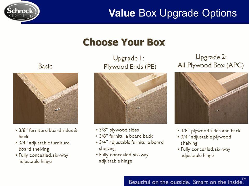 Value Box Upgrade Options