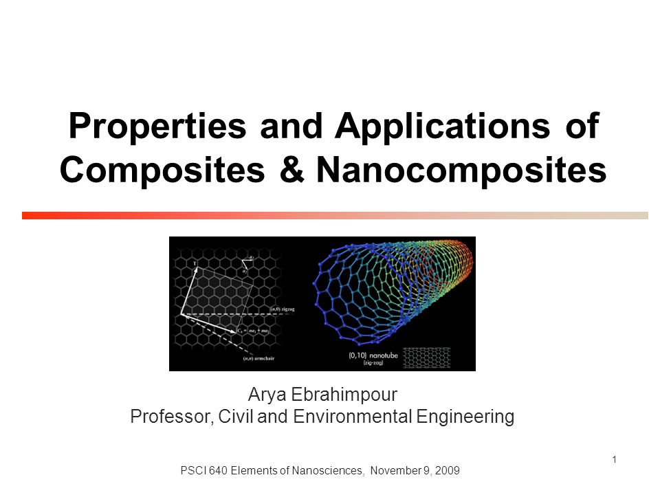 Properties and Applications of Composites & Nanocomposites