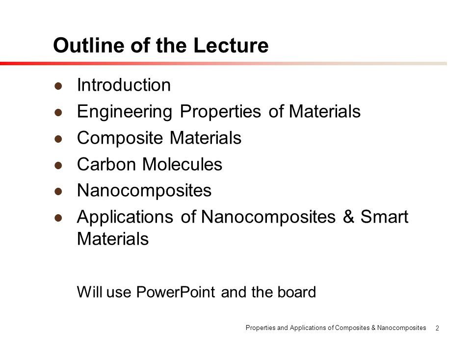 Outline of the Lecture Introduction
