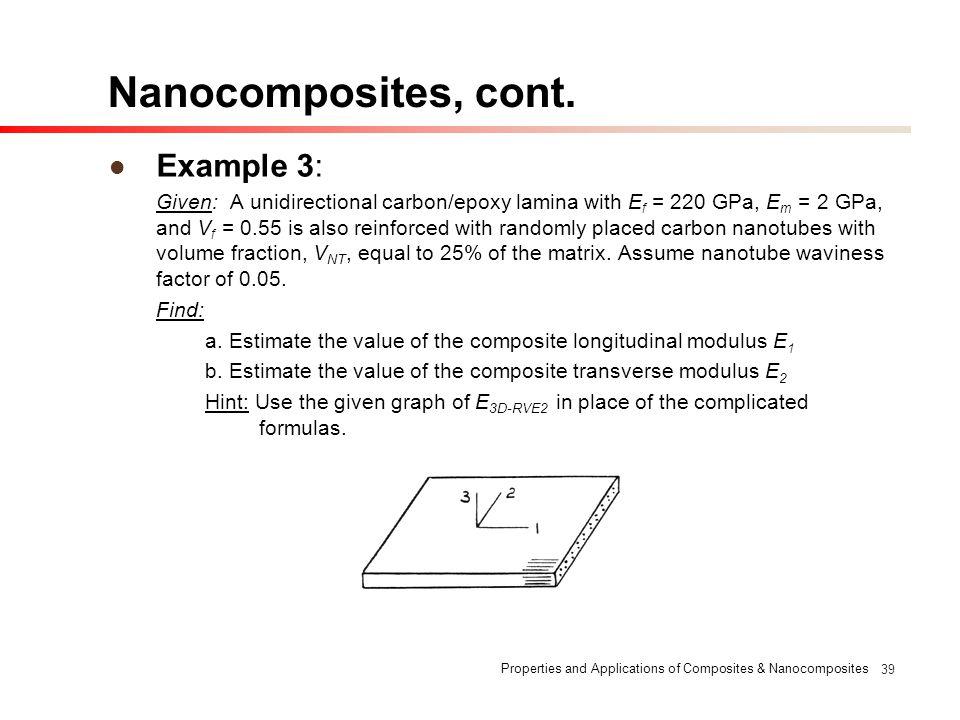 Nanocomposites, cont. Example 3: