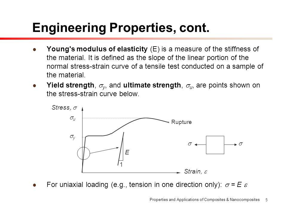 Engineering Properties, cont.