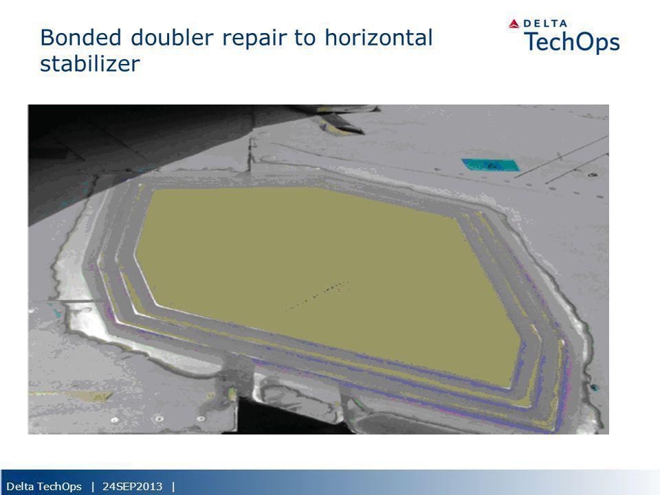 Bonded doubler repair to horizontal stabilizer