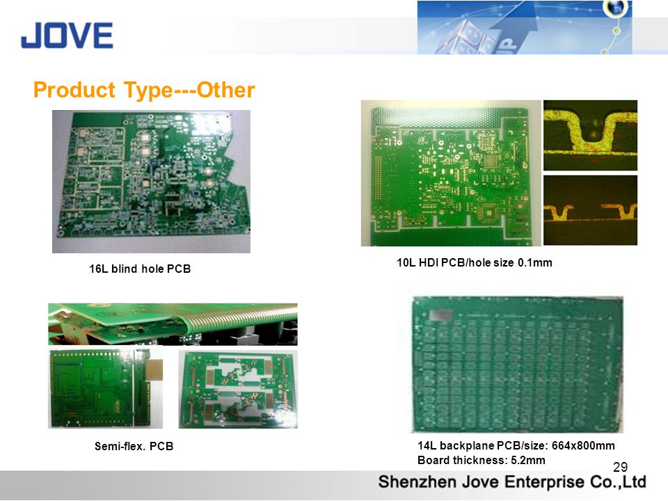 Product Type---Other 10L HDI PCB/hole size 0.1mm 16L blind hole PCB