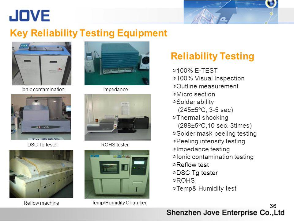Key Reliability Testing Equipment