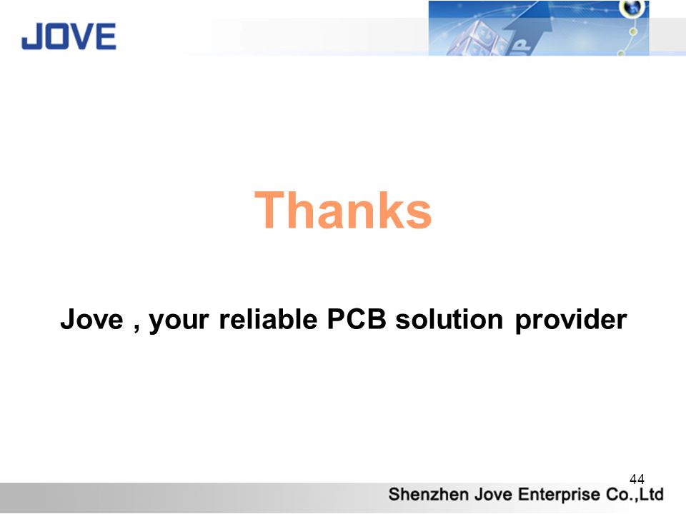 Jove , your reliable PCB solution provider