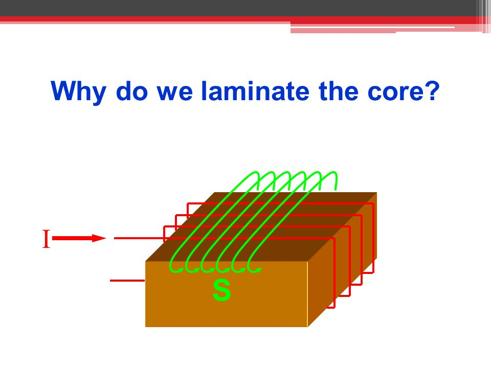 Why do we laminate the core