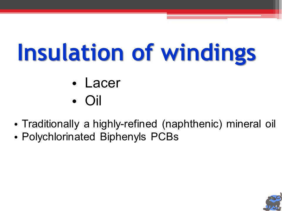 Insulation of windings