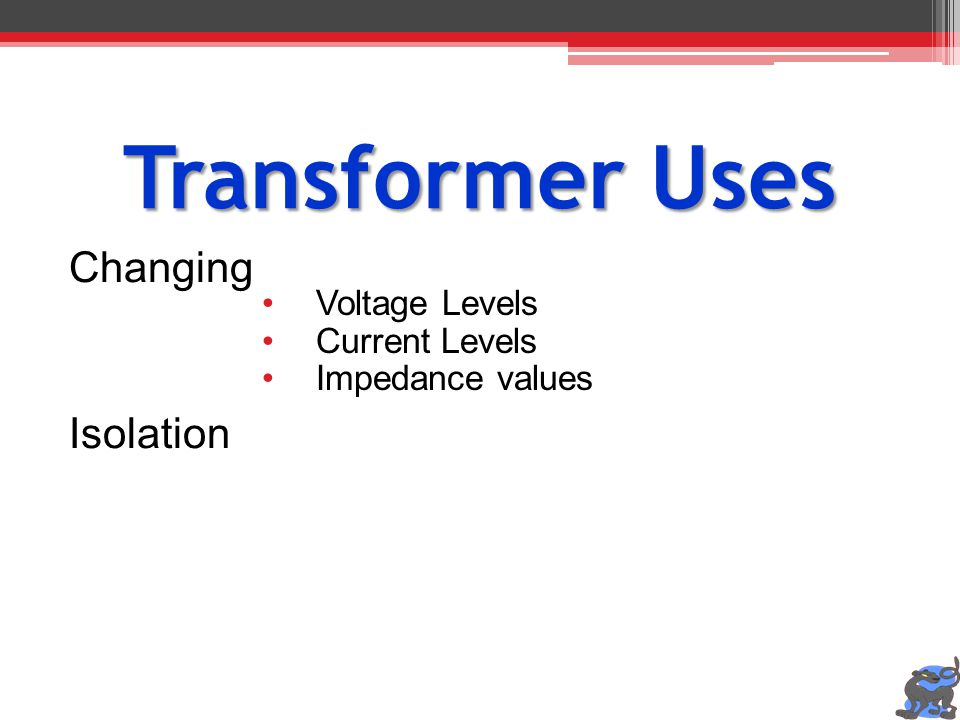 Transformer Uses Changing Isolation Voltage Levels Current Levels