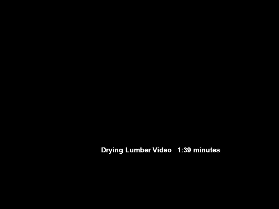 Drying Lumber Video 1:39 minutes