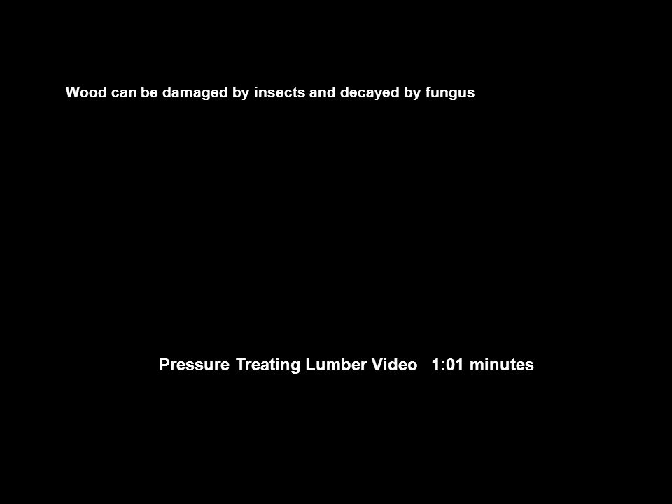 Pressure Treating Lumber Video 1:01 minutes