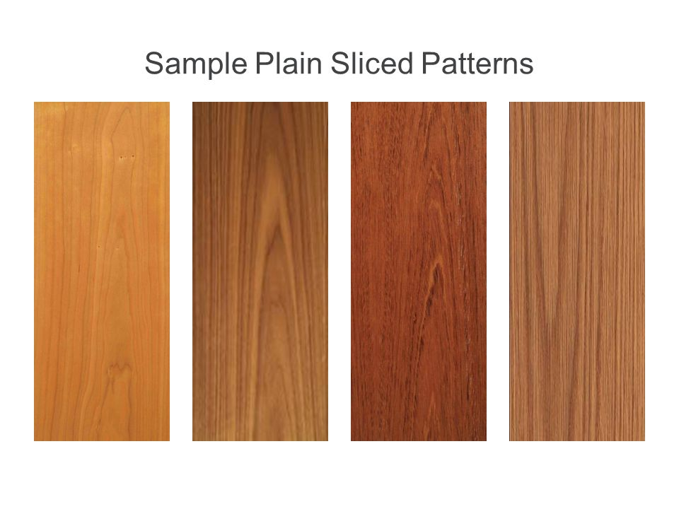 Sample Plain Sliced Patterns