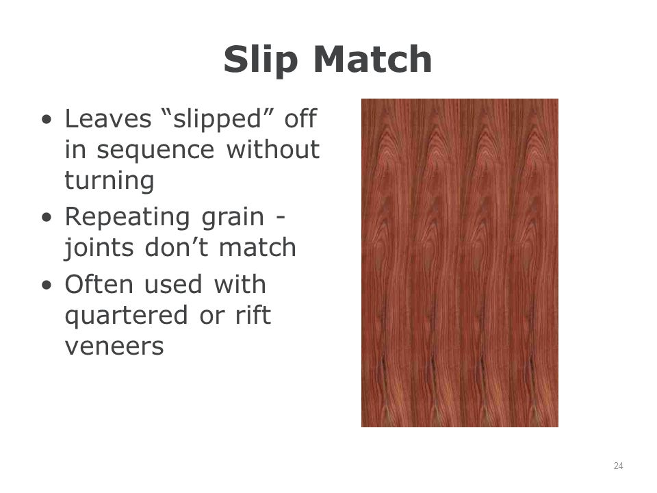 Slip Match Leaves slipped off in sequence without turning