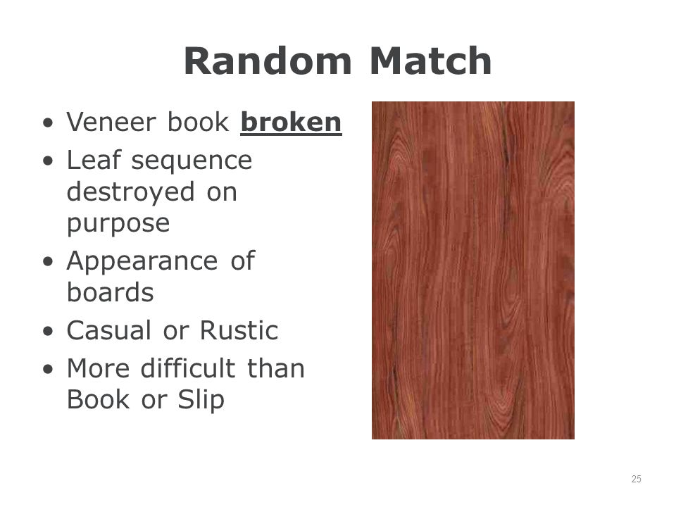 Random Match Veneer book broken Leaf sequence destroyed on purpose