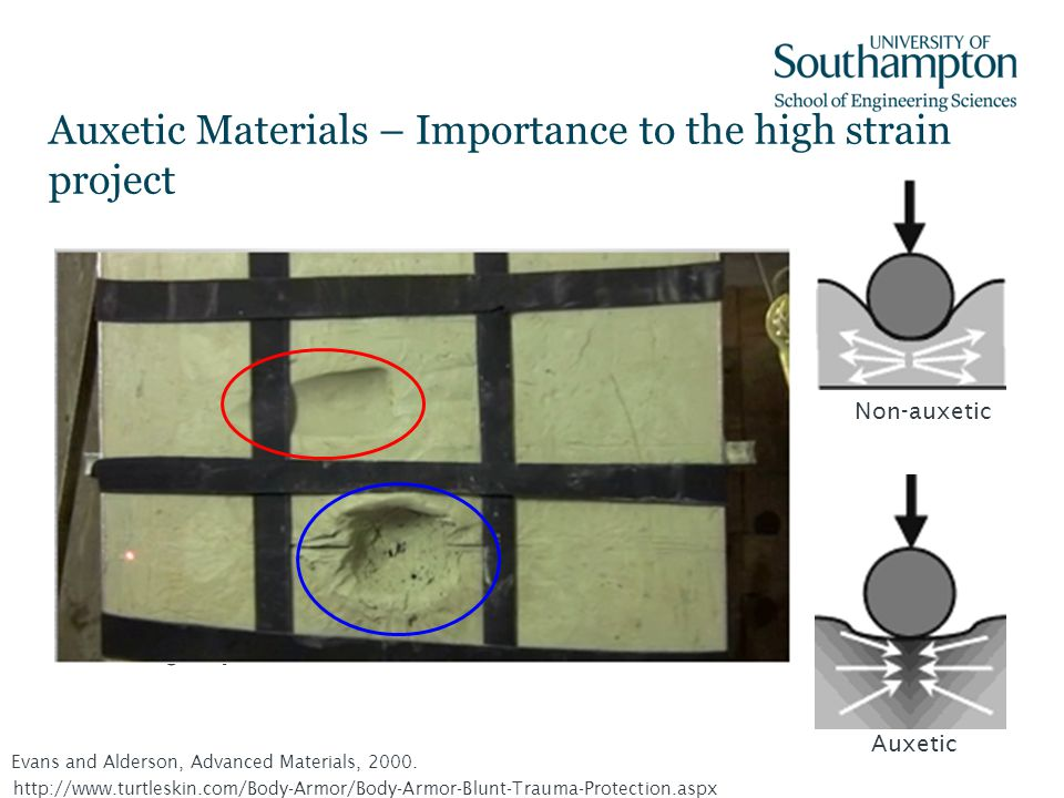 Auxetic Materials – Importance to the high strain project